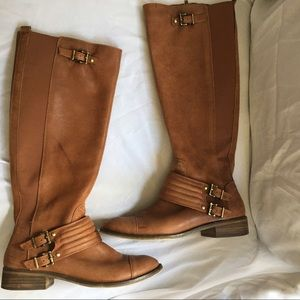 Jessica Simpson tall leather rider boots